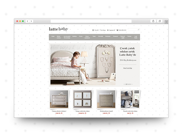 Latte Baby - E-commerce Design&Programming
