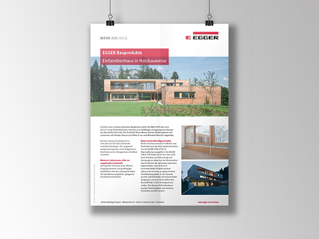 Egger - Graphic Application for E-Bulletin Design