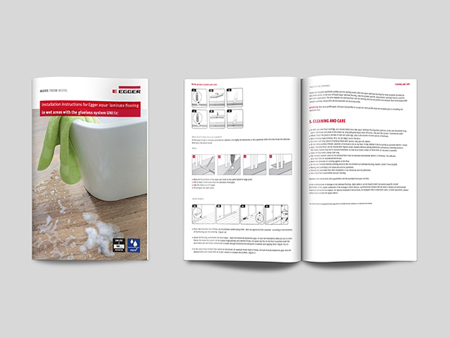 Egger - Graphic Application for Brochure