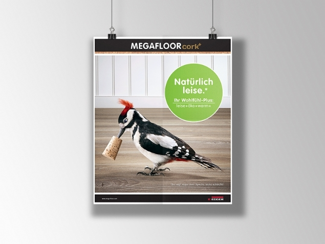 Egger / Megafloor Cork+ - Graphic Application for Ad Design